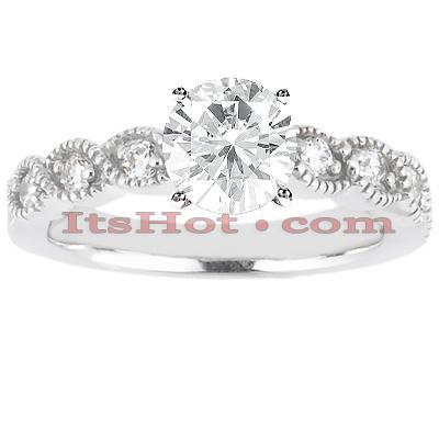 14K Gold Diamond Engagement Ring Setting 0.12ct