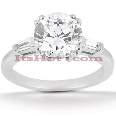 14K Gold Diamond Engagement Ring Setting 0.14ct