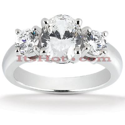 14K Gold Diamond Engagement Ring Setting 0.20ct