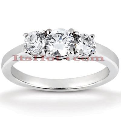 Thin 14K Gold Diamond Engagement Ring Setting 0.20ct