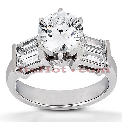 14K Gold Diamond Engagement Ring Setting 0.24ct