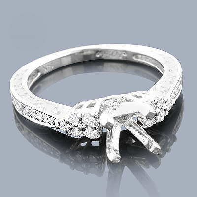 14K Gold Diamond Engagement Ring Setting 0.26ct
