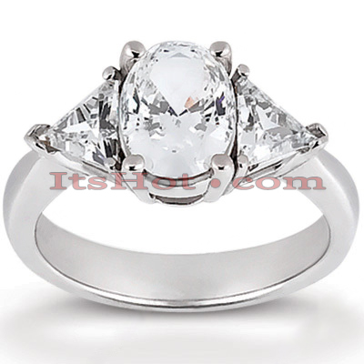 14K Gold Diamond Engagement Ring Setting 0.30ct