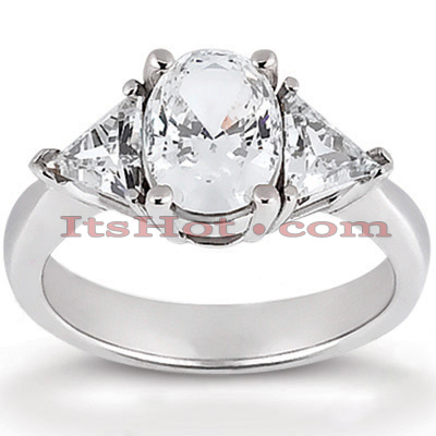 Thin 14K Gold Diamond Engagement Ring Setting 0.30ct