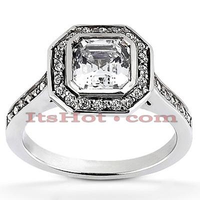 Halo 14K Gold Diamond Engagement Ring Setting 0.33ct