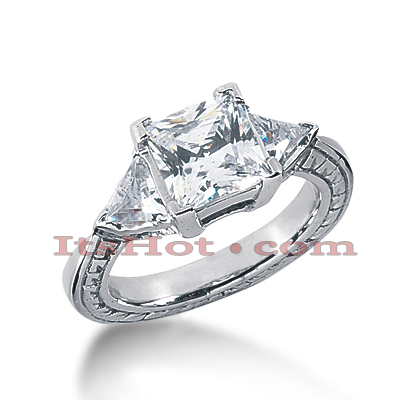 14K Gold Diamond Engagement Ring Setting 0.50ct