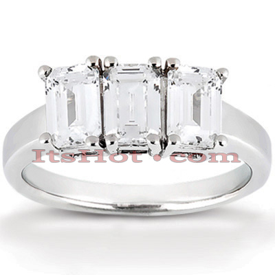 Thin 14K Gold Diamond Engagement Ring Setting 0.50ct