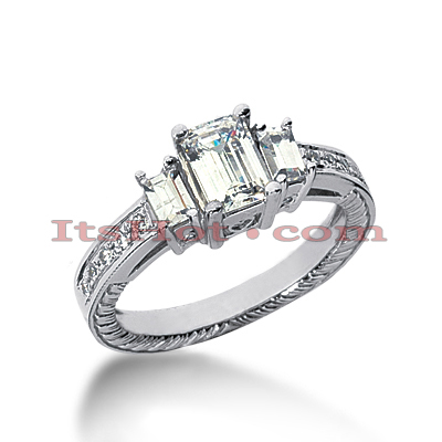 14K Gold Diamond Engagement Ring Setting 0.54ct