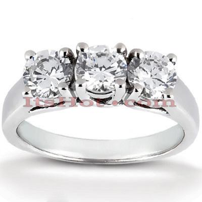 Thin 14K Gold Diamond Engagement Ring Setting 0.66ct