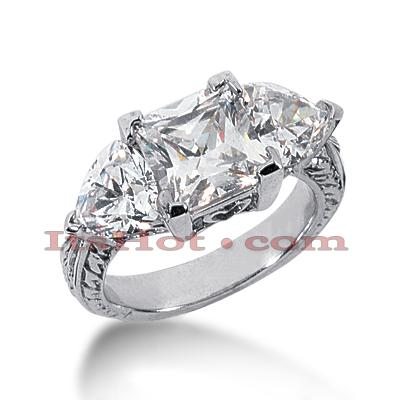 14K Gold Diamond Engagement Ring Setting 0.88ct