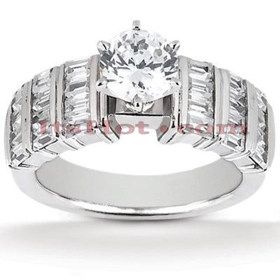 14K Gold Diamond Engagement Ring Setting 0.90ct