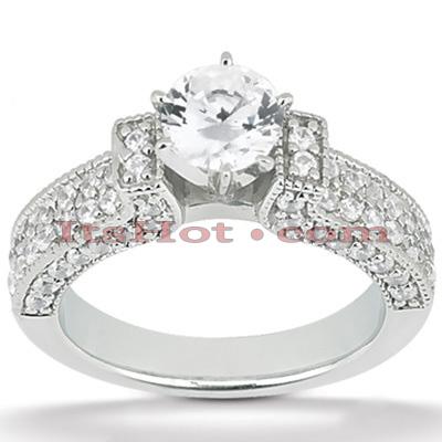 14K Gold Diamond Engagement Ring Setting 1.02ct