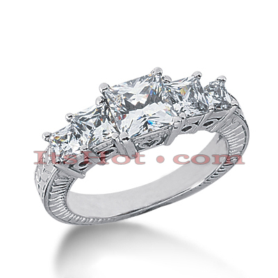 14K Gold Diamond Engagement Ring Setting 1.20ct