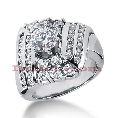 14K Gold Diamond Engagement Ring Setting 1.26ct