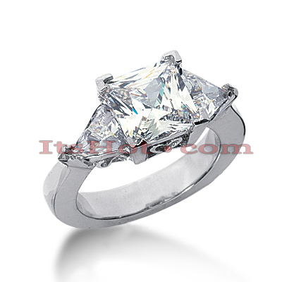 14K Gold Diamond Engagement Ring Setting 1.30ct