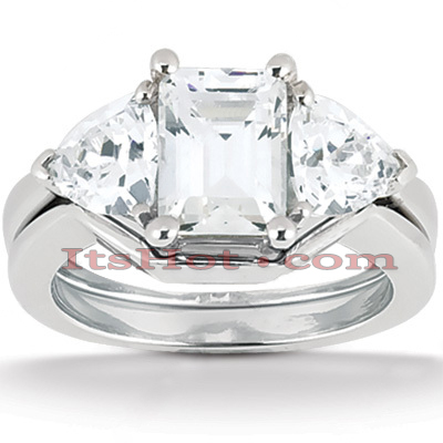 14K Gold Diamond Engagement Setting Set 0.40ct