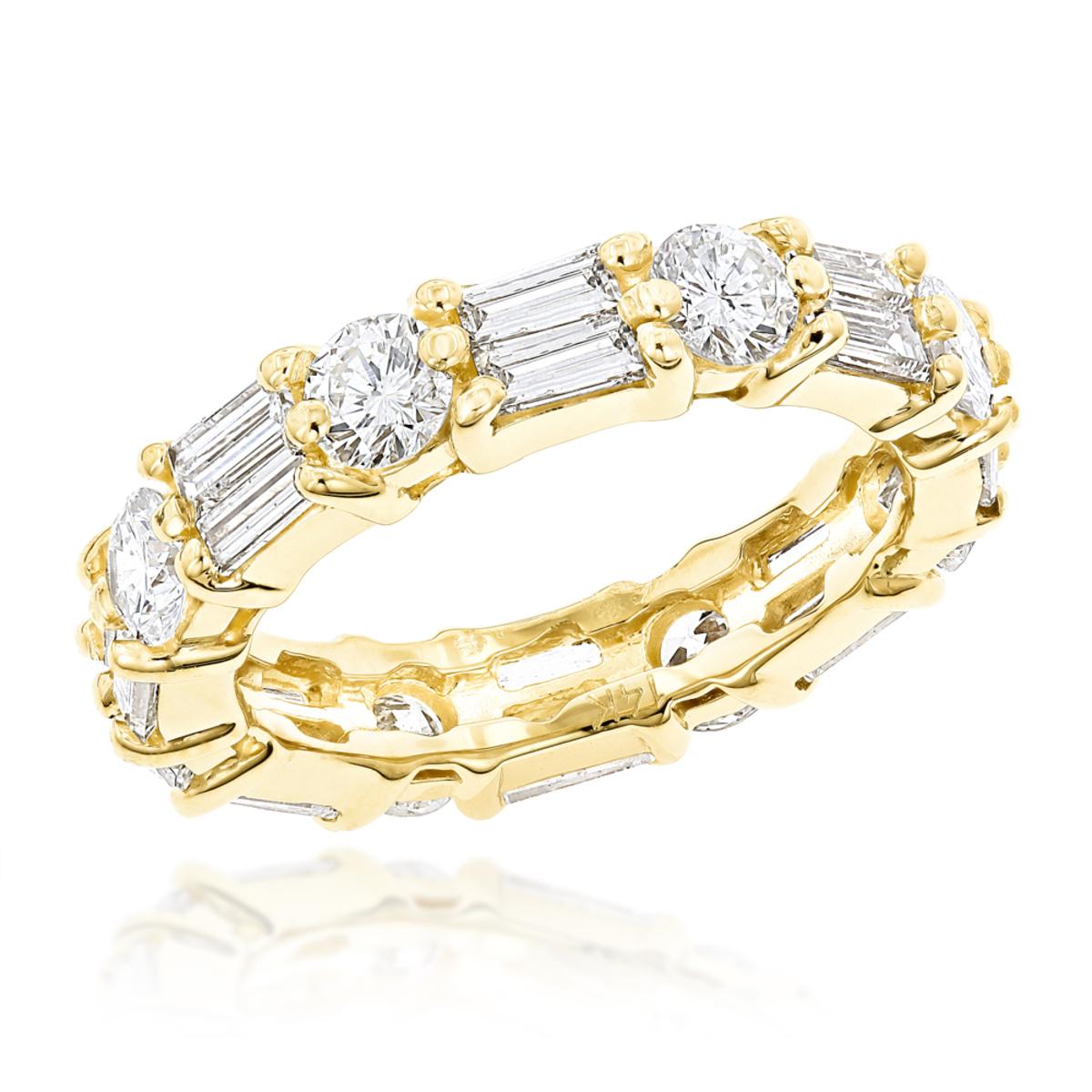 14K Gold Diamond Eternity Band 2.96ct