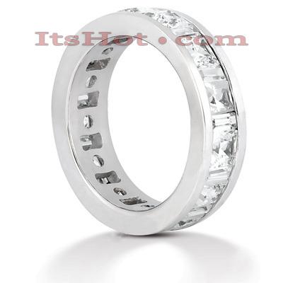 14K Gold Diamond Eternity Ring 4.29ct