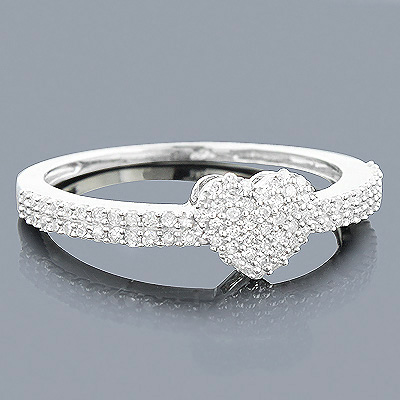 14K Gold Diamond Heart Ring 0.29ct