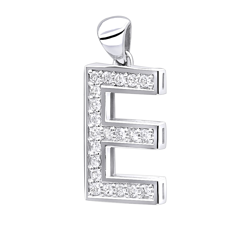 14k gold diamond initial letter pendant 033ct mozeypictures Image collections