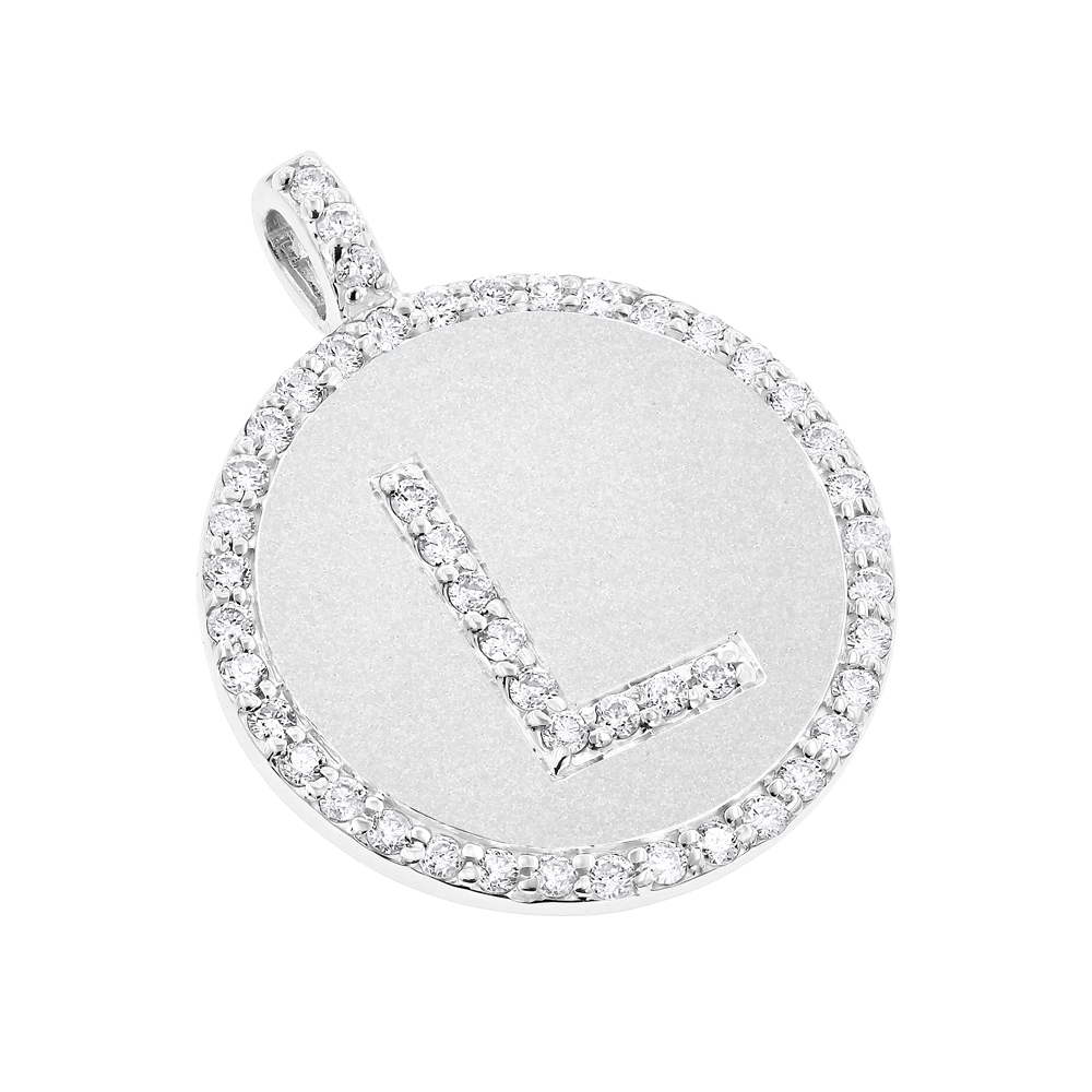 14k gold diamond initial pendant 053ct mozeypictures Image collections