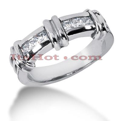 14K Gold Diamond Men's Wedding Band 0.60ct