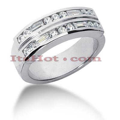 14K Gold Diamond Men's Wedding Band 0.90ct