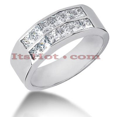 14K Gold Diamond Men's Wedding Band 2.04ct