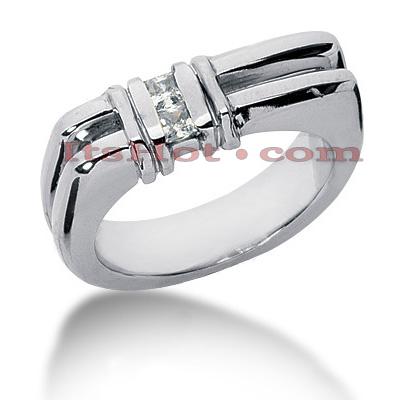 14K Gold Diamond Men's Wedding Ring 0.20ct