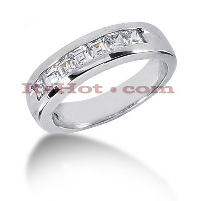 14K Gold Diamond Men's Wedding Ring 1ct