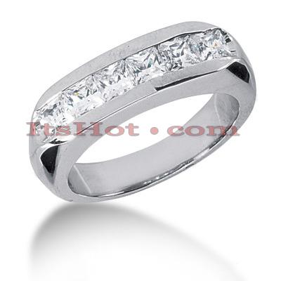 14K Gold Diamond Men's Wedding Ring 1.62ct