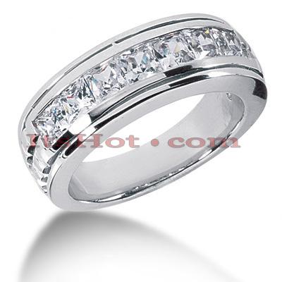 14K Gold Diamond Men's Wedding Ring 2.10ct