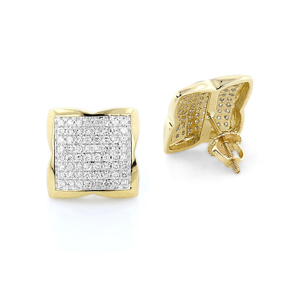14K Gold Diamond Stud Earrings 0.73ct
