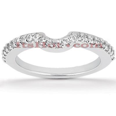 Ultra Thin 14K Gold Diamond Unique Engagement Band 0.24ct
