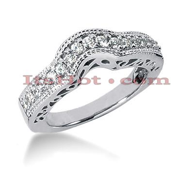 14K Gold Diamond Unique Engagement Band 0.32ct