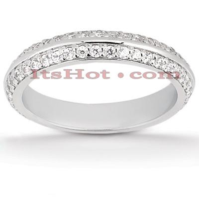 Thin 14K Gold Diamond Unique Engagement Band 0.41ct