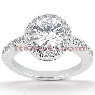 14K Gold Diamond Unique Engagement Ring 0.62ct