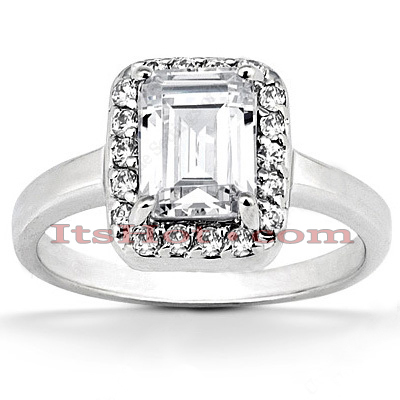14K Gold Diamond Unique Engagement Ring 0.64ct