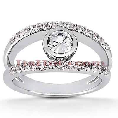 14K Gold Diamond Unique Engagement Ring 0.77ct