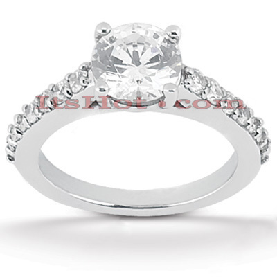 14K Gold Diamond Unique Engagement Ring 0.80ct