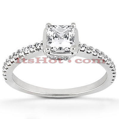 14K Gold Diamond Unique Engagement Ring 0.81ct