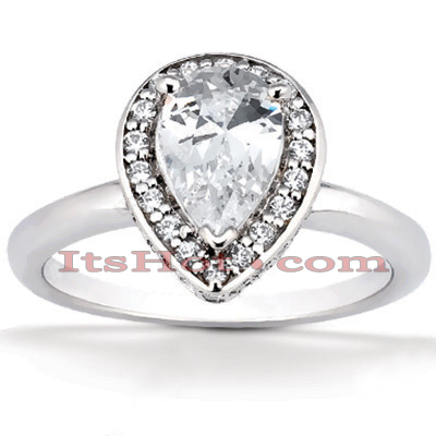 14K Gold Diamond Unique Engagement Ring 0.81ct