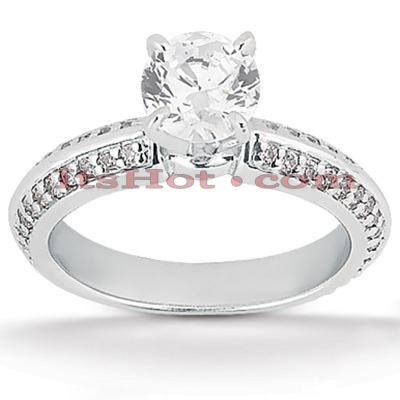 14K Gold Diamond Unique Engagement Ring 0.88ct