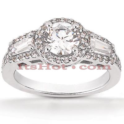 14K Gold Diamond Unique Engagement Ring 0.96ct