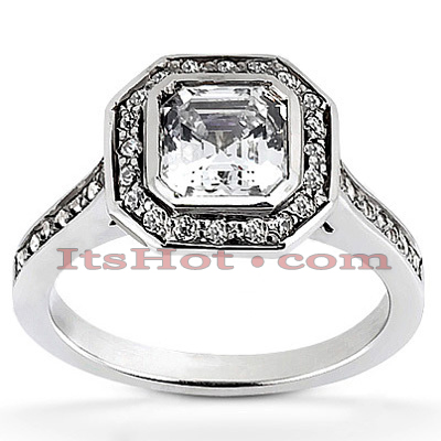 14K Gold Diamond Unique Engagement Ring 1.03ct