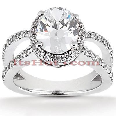 14K Gold Diamond Unique Engagement Ring 1.13ct