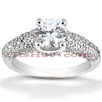 14K Gold Diamond Unique Engagement Ring 1.16ct