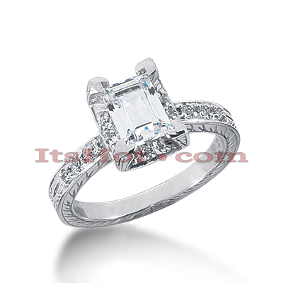 14K Gold Diamond Unique Engagement Ring 1.21ct