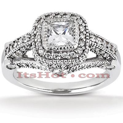 14K Gold Diamond Unique Engagement Ring 1.26ct