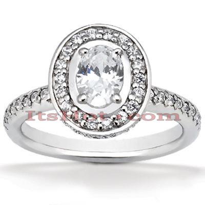 14K Gold Diamond Unique Engagement Ring 1.33ct